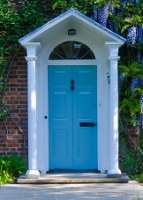 blue door w whiseria
